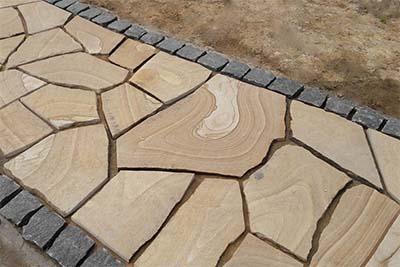 Плитняк на цементный раствор андре бетоне